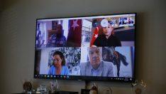Kıyı Ege Belediyeleri video konferansta bir araya geldi