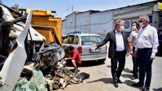Bornova'da hurda araç sorununa son