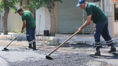 Konak'ın sokaklarına  7 ayda 3 bin 800 ton asfalt