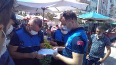 Bergama pazar yerlerinde Pandemi denetimi devam ediyor