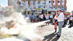 Çiğli Belediyesi'nde Yangın Tatbikatı