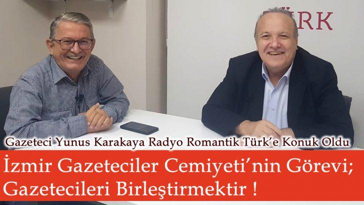 İzmir Gazeteciler Cemiyeti'nin Görevi; Gazetecileri Birleştirmektir !