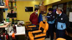 Çiğli'de Berber ve Kuaförlere Koronavirüs Denetimi