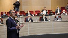 Başkan Arda, parti yöneticilerine iki yıllık hizmetlerini anlattı