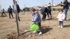Karşıyaka'da Fidanlar Toprakla Buluştu