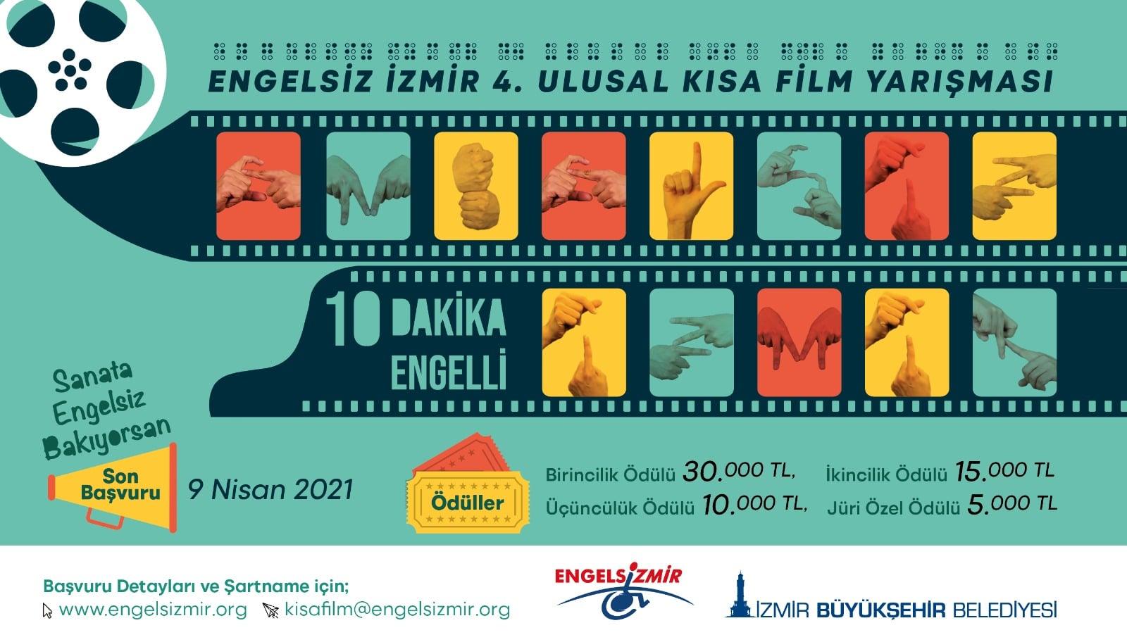 """Engelsiz İzmir 4. Ulusal Kısa Film Yarışması: """"10 Dakika Engelli""""nin sonuçları belli oldu"""