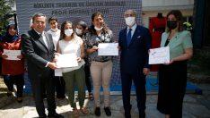 Konak'ta iş garantili kurs ilk mezunlarını verdi
