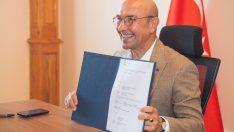 İzmir tarihinin en büyük yatırımı için ilk kredi sözleşmesi imzalandı Üçyol-Buca Metrosu için Avrupa'dan 125 milyon avro kredi