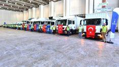 """Büyükşehir'den yangın bölgesine destekler sürüyor """"Bu zorlu günleri dayanışmayla atlatacağız"""""""
